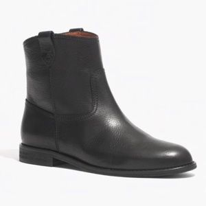 Madewell Otis Black Leather Boots SZ 8.5